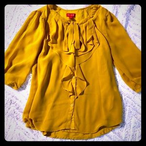 *Moving Sale!* ELLE golden blouse Sz M